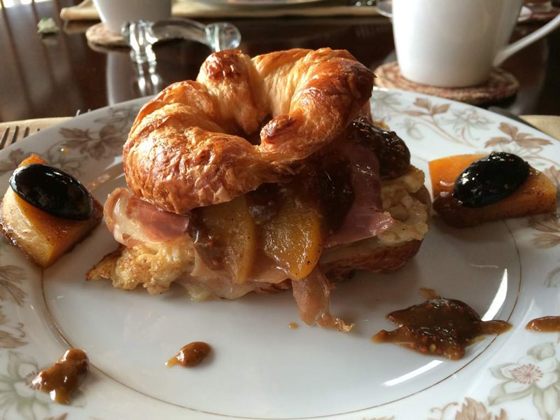 croissant with preserves