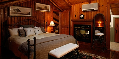 balcony bedroom at chalet of canandaigua